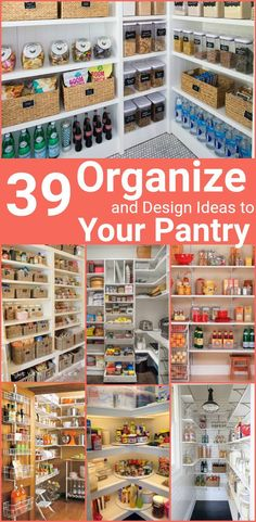 Pantry Organization, Organize Pantry, Organizing Ideas for your pantry - these are the words which are helpful to identify these Organizing Ideas for any Pantry. #homeorganization #homeorganizationtips #homeorganizationhacks #pantryorganization