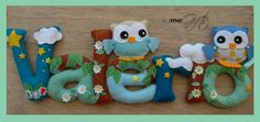 Owl Name Banner Eule Namenskette Felt Name Banner, Name Banners, Handmade Gifts, Owl, Kid Craft Gifts, Handcrafted Gifts, Hand Made Gifts, Diy Gifts, Homemade Gifts