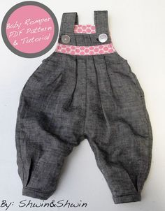 Baby Romper Free Pattern&Tutorial {Baby+Belly}