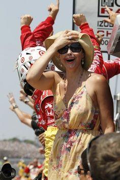 Ashley Judd  ( Tom Strattman, Associated Press / May 27, 2012 )  Actress Ashley Judd reacts after husband Dario Franchitti won the 96th Indianapolis 500 on Sunday.