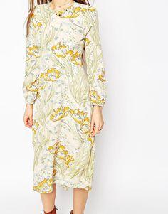Image 3 ofASOS Printed Midi Column Dress in Wallpaper Print