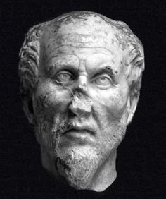 Plotinus (c. 204-270 CE) was a Platonic philosopher born in Lycopolis, Egypt. Although the story of his life was written down by his student Porphyry, few biographical details are included because Plotinus rejected the physical world of appearances in favor of the realm of the mind and considered trivialites such as his birth date, family, ancestry and personal endeavors unworthy of mention. (Info by Joshua J. Mark) -- AHE