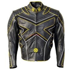 xmen 3 leather motorbike jacket