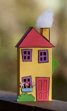 Colourful matchbox house - PAPER CRAFTS, SCRAPBOOKING & ATCs (ARTIST TRADING CARDS)