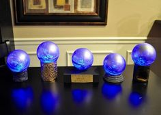 DIY Harry Potter Prophecy Orbs - This gal has tons of great ideas for each of the books!!!