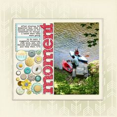 Ideas for using Full Page Stencils and Die Cuts on Scrapbook Layouts | Debbie Hodge | Get It Scrapped