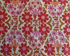 VTG Scandinavian Allmoge Folk Art Floral Fabric Cotton Material 60s 70s Remnant | eBay