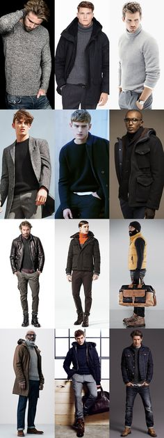 Men's Ribbed and Waffle Knitwear - Winter/Apres-Ski Outfit Inspiration Lookbook