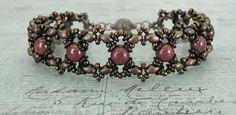 Ivy Bracelet Variation & Tara Earrings - Chocolate & Berry