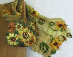 "Sets of handmade accessories.  Fair Masters - handmade felting kit ""Sunflowers"".  Handmade."