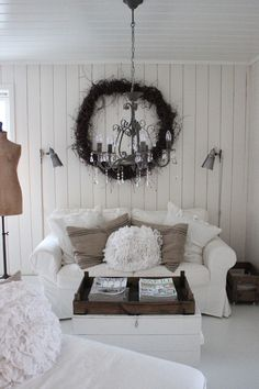 White, light and charming wee room..............