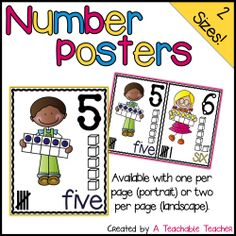 Cute way to show number representation on a focus wall or bulletin board! $