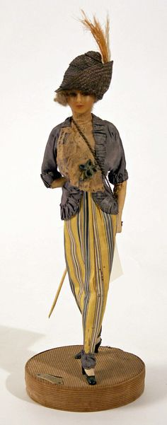 Doll  Lafitte Desirat  (French)  Date: 1911–16 Culture: French Medium: [no medium available] Dimensions: Height: 12 in. (30.5 cm) Credit Line: Gift of Claras, 1972 Accession Number: 1972.154.2  This artwork is not on display