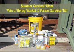 Summer Survival Blast: Win a Honey Bucket 2 Person Survival Kit   Backdoor Survival