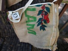 Totes made from upcycled coffee bean sacks. by ShadyWoods on Etsy
