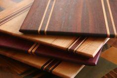 Purpleheart Walnut & Maple Wood Cutting Board or serving