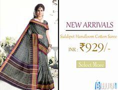 Multicolor Siddipet Cotton Saree Product code: SHSA90C109 Retail price: 975/- Sale price: 929/-