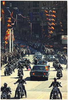 President Richard Nixon waves to the crowd during a procession in Madrid, Spain, 10/02/1970
