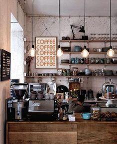 Restaurant Design, Deco Restaurant, Restaurant Seating, Coffee Shop Interior Design, Coffee Shop Design, Coffee Cafe Interior, Small Coffee Shop, Coffee Shop Counter, Cafe Counter
