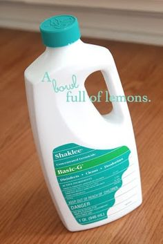 Basic G – How to sanitize your home with Shaklee | A Bowl Full of Lemons