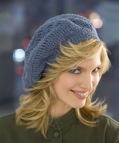 Track Stitch Beret Crochet Pattern via Hopeful Honey