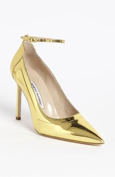 Manolo Blahnik Ankle Strap Pump available at #Nordstrom