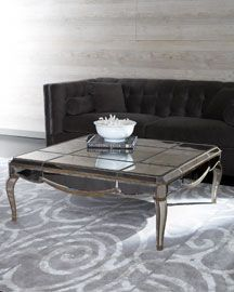 """Claudia"" Mirrored Coffee Table    799.00"