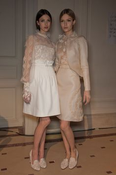 194 backstage photos of Valentino at Couture Spring 2012.