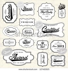 Vector Retro Label Set. Easy to edit. All layers are separated.
