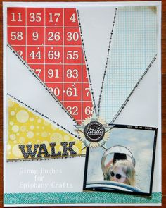 Layout made with the #epiphanycrafts Shape Studio Tool Scalloped Circle. www.epiphanycrafts.com #octoberafternoon #studiocalico #scrapbook