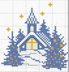 no count cross stitch kits Cross Stitch House, Xmas Cross Stitch, Just Cross Stitch, Cross Stitch Cards, Modern Cross Stitch, Counted Cross Stitch Patterns, Cross Stitch Designs, Cross Stitching, Cross Stitch Embroidery