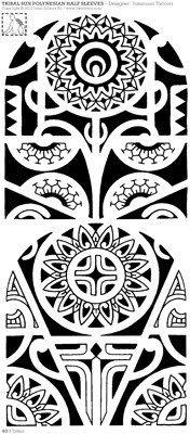 two-arm-tattoo-design-with-ipu-and-marquesan-cross.jpg (176×400)
