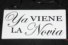 Here Comes the Bride  Ya Viene La Novia  Spanish by mtcvinyl, $24.99 etsy.com