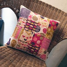 Retro Orchid Quilted Pillow Cover by MineyMoDesigns on Etsy