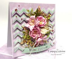 kartka z kwiatami Decorative Boxes, Shabby Chic, Decorative Storage Boxes, Kleding, Shabby Chic Decorating