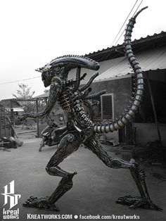 Recycled Metal Horror Monster made-to-order by Kreatworks on Etsy