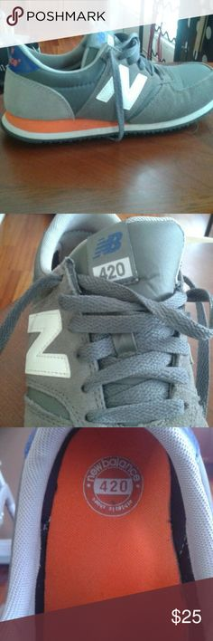 New balance 420, wore twice They are gray w orange and blue accents New Balance Shoes Athletic Shoes