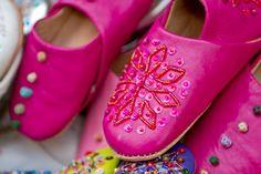 blingin' camel leather slippers
