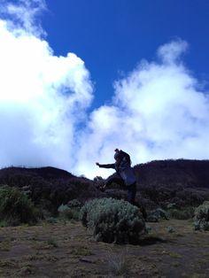 Jump under a blue sky