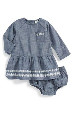 Tucker+++Tate+Embroidered+Denim+Dress+&+Bloomers+(Baby+Girls)+available+at+#Nordstrom