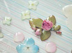 cuty real rose brooch resin jewelry oneflowerstory