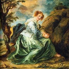 Hagar in the Desert by Peter Paul Rubens Date painted: after 1630 Oil on panel, x cm Collection: Dulwich Picture Gallery Peter Paul Rubens, Agar, Artist Canvas, Canvas Art, Rubens Paintings, Oil Paintings, Dulwich Picture Gallery, Google Art Project, Desert Art