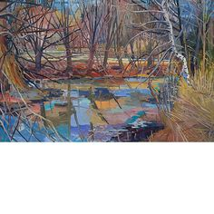 Nancy Friese  - Muddy River, Emerald Necklace: Pathway 16 x 24 inches oil/linen 2010
