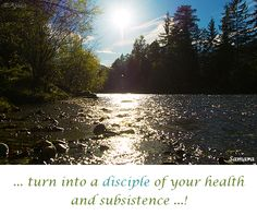 ... turn into a #disciple of your #health and #subsistence ...!
