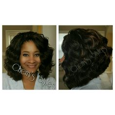 Crochet Hair Memphis : Kima Ocean Wave crochet braids in colors 4/30 cut into a bob. # ...