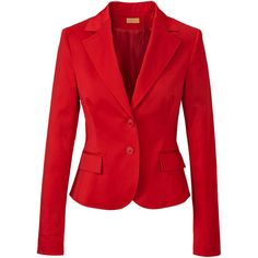 ODEON Blazer ($76) ❤ liked on Polyvore featuring outerwear, jackets, blazers, coats, tops, rot, red blazer jacket, red blazer, blazer jacket and red jacket