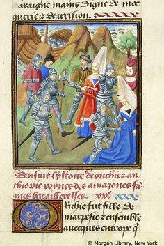 Medieval Manuscript Images, Pierpont Morgan Library, Livre des cleres et nobles femmes. MS M.381 fol. 10v