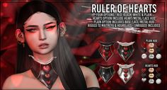 https://flic.kr/p/25YVLAQ | AsteroidBox. Ruler of Hearts - Collars @ Enchantment | coming to Enchantment event - May 12th  these collars have loads of options, fatpack includes all types and all HUDs. they're rigged 2 maitreya and hourglass and there is an unrigged version too. high materials enabled so advance lighting makes them super extra shiney.  update with LM