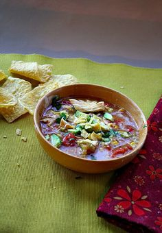 Ranch Style Chicken Tortilla Soup. Predictable with Hatch Chile, creamy with Creamed Corn, unique with Chamayo Chile Powder.