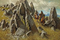Frank C. McCarthy - WHERE ANCIENT ONES HAD HUNTED - LIMITED EDITION PRINT…